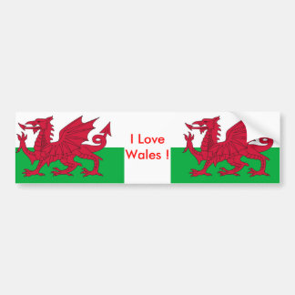 Sticker with Flag of the Wales Car Bumper Sticker