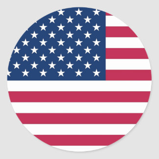 Sticker with Flag of USA