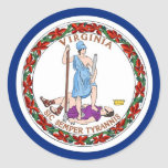 Sticker with Flag of Virginia