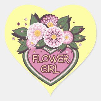Sticker  with flower girl design