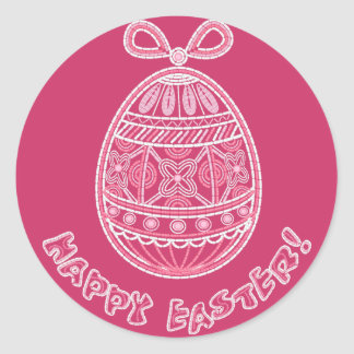 Sticker with Happy Easter egg