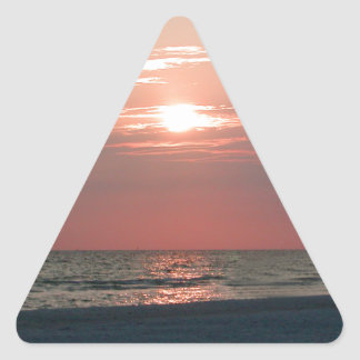 sticker with photo of beautiful sunset