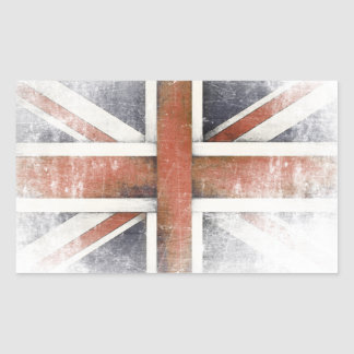 Sticker with Vintage Great Britain Flag
