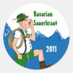 Sticker Yodeler Alps Home Canning Jar Circles