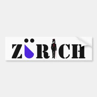 sticker Zurich Car Bumper Sticker