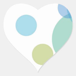 STICKERBOX : Light Shade WriteOn Floral Patterns Heart Sticker
