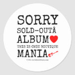 sorry sold-out album [Love heart]  this is chic boutique mania [Electric guitar]   sorry sold-out album [Love heart]  this is chic boutique mania [Electric guitar]   Stickers