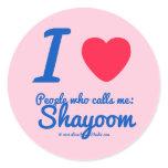 i [Love heart]  people who calls me:   shayoom i [Love heart]  people who calls me:   shayoom Stickers
