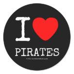 i [Love heart]  pirates i [Love heart]  pirates Stickers