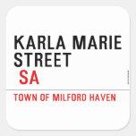 Karla marie STREET   Stickers