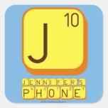 J JENNIFER'S PHONE  Stickers
