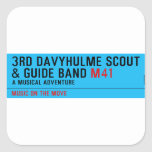 3rd Davyhulme Scout & Guide Band  Stickers
