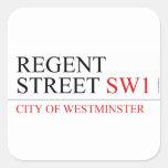 REGENT STREET  Stickers