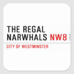 THE REGAL  NARWHALS  Stickers
