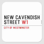 New Cavendish  Street  Stickers