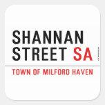 Shannan Street  Stickers