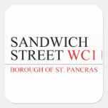 SANDWICH STREET  Stickers