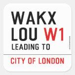 WAKX LOU  Stickers