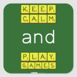 KEEP CALM and PLAY GAMES  Stickers