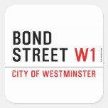 BOND STREET  Stickers