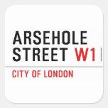 Arsehole Street  Stickers