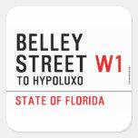 Belley Street  Stickers