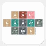 Owl Square Press  Stickers