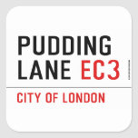 PUDDING LANE  Stickers