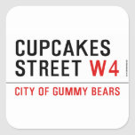cupcakes Street  Stickers