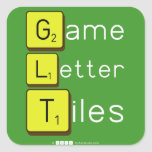 Game Letter Tiles  Stickers