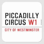piccadilly circus  Stickers