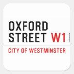 oxford street  Stickers