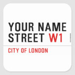 Your Name Street  Stickers