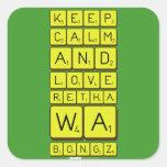 keep calm and love Retha wa Bongz  Stickers