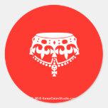 [Crown upside down]  Stickers