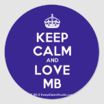 [Crown] keep calm and love mb  Stickers