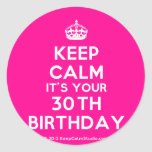 [Crown] keep calm it's your 30th birthday  Stickers