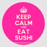 [Crown] keep calm and eat sushi  Stickers