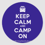[Campervan] keep calm and camp on  Stickers