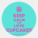 [Cupcake] keep calm and love cupcakes  Stickers