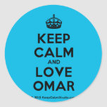 [Crown] keep calm and love omar  Stickers