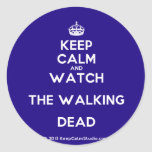 [Crown] keep calm and watch the walking dead  Stickers