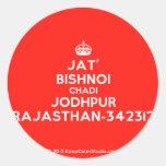 [Crown] jat' bishnoi chadi jodhpur rajasthan-342312  Stickers