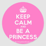 [Crown] keep calm and be a princess  Stickers