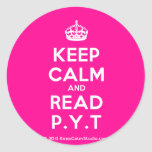 [Crown] keep calm and read p.y.t  Stickers