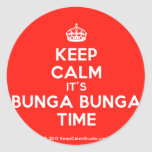 [Crown] keep calm it's bunga bunga time  Stickers