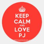 [Crown] keep calm and love pj  Stickers