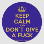 [Dancing crown] keep calm and don't give a fuck  Stickers