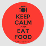 [Cutlery and plate] keep calm and eat food  Stickers