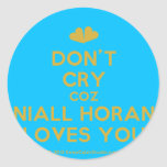 [Two hearts] don't cry coz niall horan loves you  Stickers